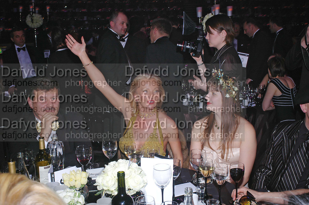 Marina Kuzmina and Alexis Teplin. Vivid Collection at Russian Rhapsody, Royal Albert Hall. 11 April 2005. ONE TIME USE ONLY - DO NOT ARCHIVE  © Copyright Photograph by Dafydd Jones 66 Stockwell Park Rd. London SW9 0DA Tel 020 7733 0108 www.dafjones.com
