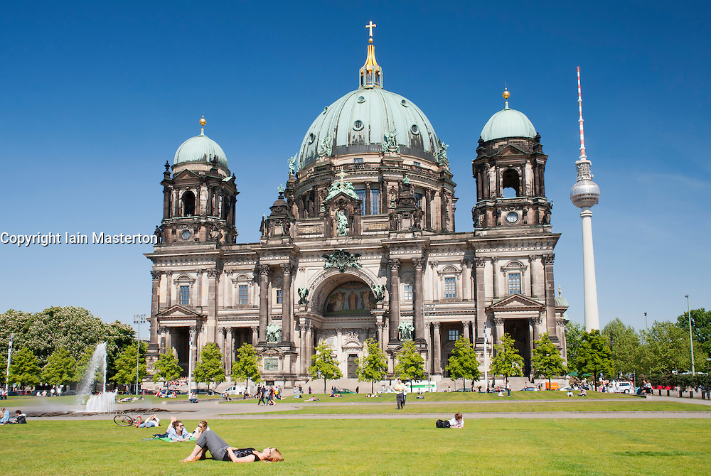 The Berlin Dom or Cathedral on Museum Island in Mitte district in Berlin Germany