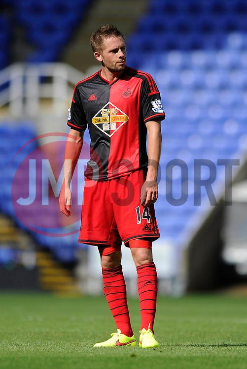 Swansea City's new signing, Gylfi Sigurdsson - Photo mandatory by-line: Dougie Allward/JMP - Mobile: 07966 386802 02/08/2014 - SPORT - FOOTBALL - Reading - Madejski Stadium - Reading v Swansea - Pre-Season Friendly