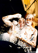 Men covered in foam Ibiza 1999