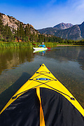 Kayaking on Silver Lake, Inyo National Forest, June Lake, California USA