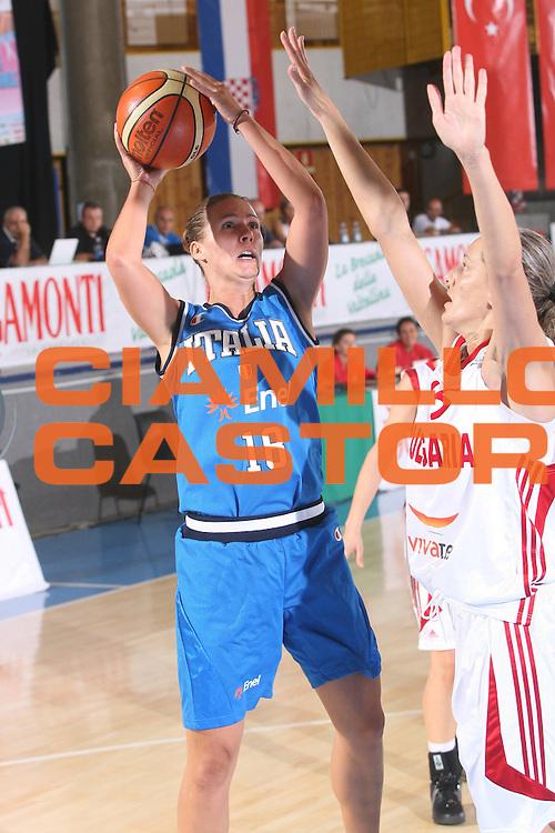 DESCRIZIONE : Bormio Torneo Preparazione Europei Nazionale Femminile 2007 Italia Bulgaria <br /> GIOCATORE : Nadalin <br /> SQUADRA : Nazionale Italia Femminile <br /> EVENTO : Torneo Preparazione Europei Nazionale Femminile 2007 <br /> GARA : Italia Bulgaria <br /> DATA : 12/08/2007 <br /> CATEGORIA : Tiro <br /> SPORT : Pallacanestro <br /> AUTORE : Agenzia Ciamillo-Castoria/G.Ciamillo