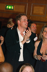 HRH PRINCE WILLIAM at the Boodles Boxing Ball in aid of the sports charity Sparks  organised by Jez lawson, James Amos and Charlie Gilkes held at The Royal Lancaster Hotel, Lancaster Terrae London W2 on 3rd June 2006.<br />