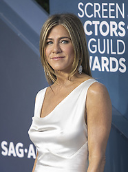 January 18, 2020, Los Angeles, California, USA: Jennifer Aniston at the red carpet of the 26th Annual Screen Actors Guild Awards held at the Shrine Auditorium in Los Angeles, California, Sunday January 19, 2020. JAVIER ROJAS/PI (Credit Image: © Prensa Internacional via ZUMA Wire)
