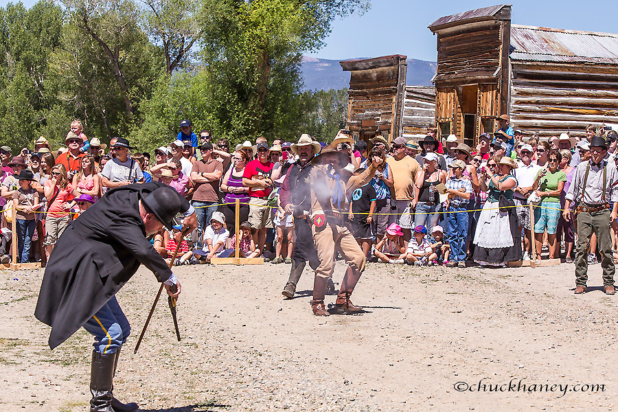 Shootout at Bannack Days in Bannack State Park, Montana, USA model released