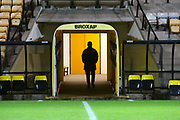 Broxap sign and view of tunnel during the EFL Trophy match between Port Vale and Crewe Alexandra at Vale Park, Burslem, England on 7 November 2017. Photo by John Potts.