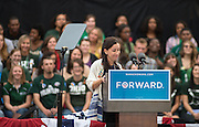 Rabbi Danielle Leshaw delivers the invocation for President Obama's visit to Athens. Photo by Ben Siegel/ Ohio University