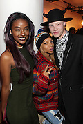 19 November-New York, NY: (L-R) Recording Artists Justine Skye, Lil Mama and Stylist Shawn Ross attend the 4th Annual WEEN (Women in Entertainment Empowerment Network) Awards held at Helen Mills Theater on November 19, 2014 in New York City.  (Terrence Jennings)