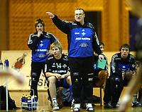 Håndball, 11. desember 2002. Eliteserien, Gildeserien herrer, Kragerø - Stord 25-32. Jesper Svensson,  trener for Stord