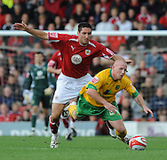 Bristol - Saturday, October 18th, 2008: Bradley Orr of Bristol City and Matt Pattison of Norwich City during the Coca Cola Championship match at Ashton Gate, Bristol. (Pic by Alex Broadway/Focus Images)