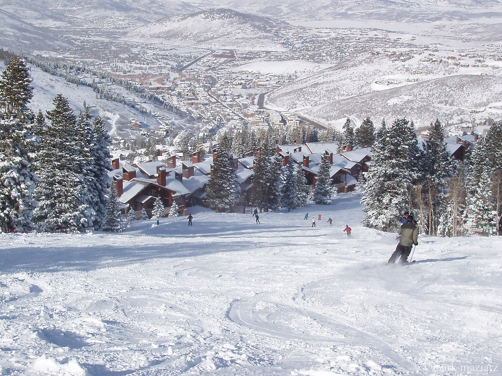 powder day scene at Deer Valley Resort, Park City, Utah