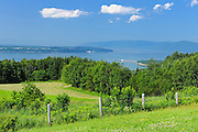 View of the St. Lawrence River from St-Joseph-de-la-Rive<br /> L'Isle-aux-Coudres<br /> Quebec<br /> Canada