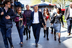 © Licensed to London News Pictures. 04/05/2016. London, UK. Labour's Mayor of London candidate SADIQ KHAN leaving LBC studios in central London on Wednesday, 4 May 2016, the day before the mayoral election. Photo credit: Tolga Akmen/LNP