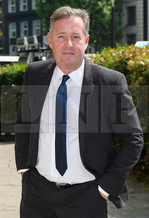 © Licensed to London News Pictures. 22/05/2018. London, UK. PIERS MORGAN attends the funeral of television presenter Dale Winton at Commonwealth Church in Marylebone, London. Dale Winton, who was found dead at his home on April 18, was famous for presenting Supermarket Sweep and National Lottery game show. Photo credit: Ben Cawthra/LNP