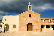 Espa&ntilde;a. Islas Baleares. Formentera. Iglesia de Sant Ferran.<br /> <br /> &copy; JOAN COSTA