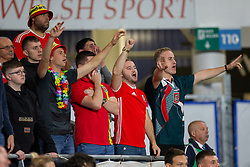 CARDIFF, WALES - Friday, September 6, 2019: Wales supporters during the UEFA Euro 2020 Qualifying Group E match between Wales and Azerbaijan at the Cardiff City Stadium. (Pic by Mark Hawkins/Propaganda)
