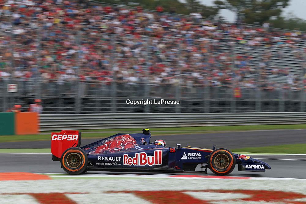 &copy; Photo4 / LaPresse<br /> 05/09/2014 Monza, Italy<br /> Sport <br /> Grand Prix Formula One Italy 2014<br /> In the pic: Daniil Kvyat (RUS) Scuderia Toro Rosso STR9