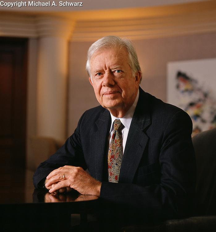 Former President Jimmy Carter at the Carter Center, Atlanta.