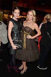 Left to right, KATIE READMAN and ALICE NAYLOR-LEYLAND at the Vogue Pop Up Club at Westfield London to celebrate Westfield London's 5th birthday on 30th October 2013.