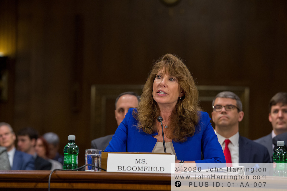 "Ms. Shirley Bloomfield, Chief Executive Officer, NTCA-The Rural Broadband Association testifies before the U.S. Senate Committee on Commerce, Science, & Transportation, during a hearing on Wednesday, March 1, 2017 at 10:00 a.m., entitled, ""Connecting America: Improving Access to Infrastructure for Communities Across the Country."" The hearing will examined the challenge of connecting Americans, particularly in rural communities, to transportation and information networks."