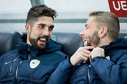 Miha Mevlja of Slovenia and Nejc Skubic of Slovenia during football match between National teams of Slovenia and Slovakia in Round #2 of FIFA World Cup Russia 2018 qualifications in Group F, on October 8, 2016 in SRC Stozice, Ljubljana, Slovenia. Photo by Vid Ponikvar / Sportida