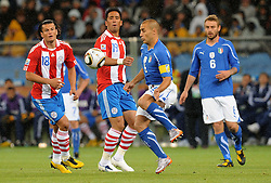 14.06.2010, Cape Town Stadium, Kapstadt, RSA, FIFA WM 2010, Italien vs Paraguay im Bild Fabio Cannavaro (Italia)., EXPA Pictures © 2010, PhotoCredit: EXPA/ InsideFoto/ G. Perottino, ATTENTION! FOR AUSTRIA AND SLOVENIA ONLY!!! / SPORTIDA PHOTO AGENCY