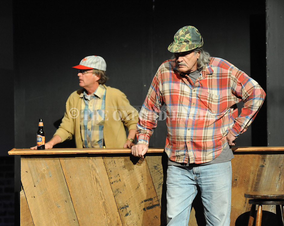 "Johnny McPhail rehearses for Tyler Keith's ""Outlaw Biker"" at the Powerhouse in Oxford, Miss. on Sunday, October 28, 2012. The production will be performed on Halloween at 8 p.m."