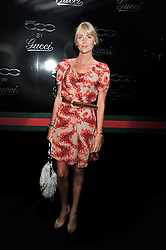 LADY EMILY COMPTON at a party to launch the Gucci designed Fiat 500 customized by Gucci Creative Director Frida Giannini in collaboration with FIAT's Centro Stile, held at Fiat, 105 Wigmore Street, London on 27th June 2011.