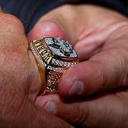 June 16, 2010; New Orleans, LA, USA; New Orleans Saints head coach Sean Payton shows off his championship ring outside the Roosevelt Hotel where the New Orleans Saints received their Super Bowl rings for their victory of the Indianapolis Colts in Super Bowl XLIV.  Mandatory Credit: Derick E. Hingle