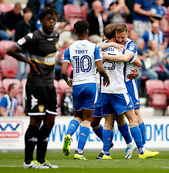 Wigan Athletic's Nick Powell celebrates after scoring his sides second goal- Mandatory by-line: Matt McNulty/JMP - 13/08/2017 - FOOTBALL - DW Stadium - Wigan, England - Wigan Athletic v Bury - Sky Bet League One