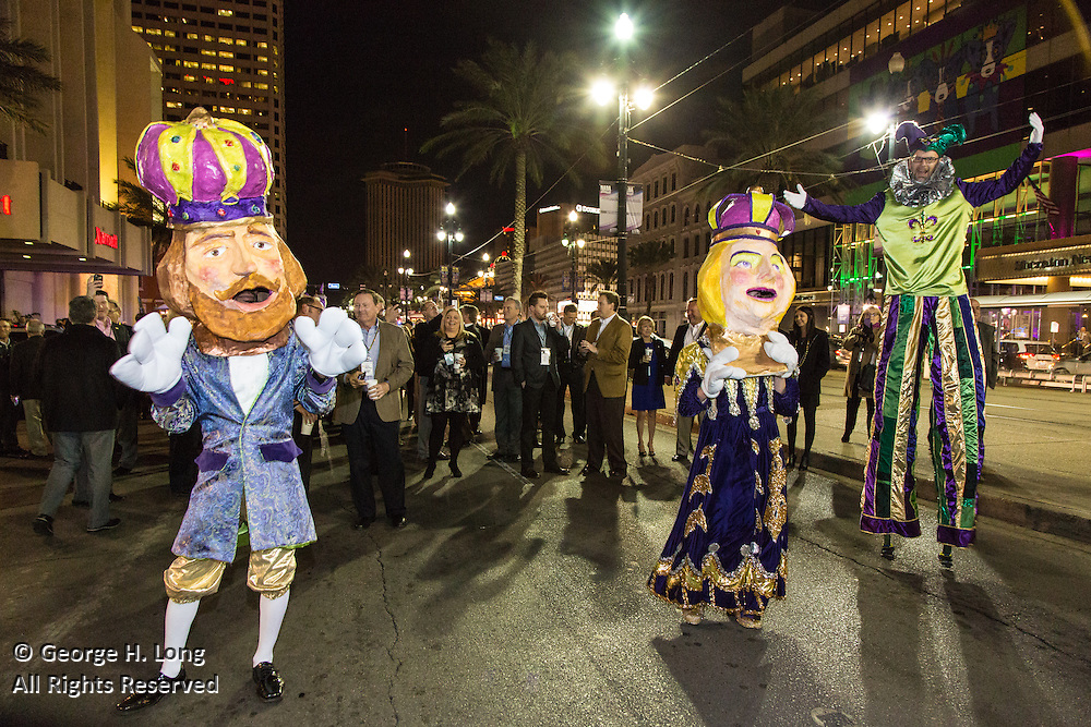 Agency 720 second line parade from the New Orleans Marriott to the Musee Conti Wax Museum