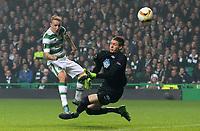 05/11/15 UEFA EUROPA LEAGUE GROUP STAGE<br /> CELTIC v MOLDE FK<br /> CELTIC PARK - GLASGOW<br /> Celtic striker Leigh Griffiths misses from close range