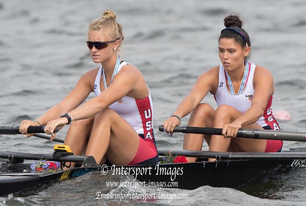 Rotterdam. Netherlands. Bronze Medalist.  USA JW2- <br /> Kailani MARCHAK, and Kaitlyn KYNAST, 2016 JWRC,  {WRCH2016}  at the Willem-Alexander Baan.   Sunday  28/08/2016 <br /> <br /> [Mandatory Credit; Peter SPURRIER/Intersport Images]