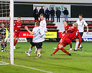 IRN BRU Scottish League First Division<br /> East End Park, Dunfermline, 01/12/2007<br /> Kevin McDonald fires home Dundee's winner at East End Park<br /> <br /> © David Young<br /> <br /> Monifieth<br /> Dundee<br /> <br /> <br /> Tel: <br /> Email: davidy233@gmail.com<br /> alternate email: davidy195
