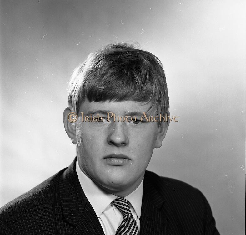 16/09/1968<br /> 09/16/1968<br /> 16 September 1968<br /> Piggybank Grocers at Lensmen studio. Pictured is David Brady, Blackrock.
