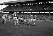 19/08/1962<br /> 08/19/1962<br /> 19 August 1962<br /> All Ireland Football Semi Final: Cavan v Roscommon at Croke Park, Dublin. Roscommon's C. Mahon and A. Kenny lose the ball to the Cavan defence after a fine movement into the Cavan goalmouth.