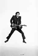 Wilko Johnson, guitarist and song writer with Dr Feelgood, Solid Senders and Wilko Johnson Band. Photographed at a Kings Cross studio in 1992.