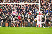 Uini Atonio / Levani Botia / Leandro Cedaro / Jean Pascal Barraque - 28.03.2015 - Begles Bordeaux / La Rochelle - 21eme journee de Top 14<br />Photo : Manuel Blondeau / Icon Sport
