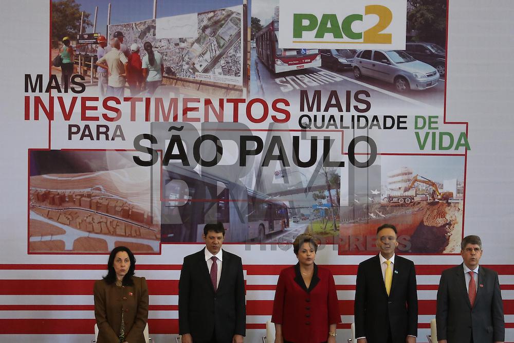 SAO PAULO, SP, 31.07.2013 - DILMA/SAO PAULO - A presidente da Republica Dilma Rousseff durante anuncio de investimentos PAC na sede da Prefeitura da cidade de Sao Paulo nesta quarta-feira, 31 (Foto: Vanessa Carvalho / Brazil Photo Press).