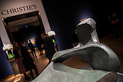 Henry Moore's Three Piece Reclining No 2, est £2-3m - Christie's Impressionist, Modern and Surrealist Art pre-sale exhibition ahead of the Evening sale on 4 February. Highlights include: Cézanne's Vue sur L'Estaque et Le Château d'If, from the collection of Samuel Courtauld, which is coming to the market for the first time since it was acquired 79 years ago, in 1936 (estimate: £8-12 million); The most valuable group of Surrealist art ever to be offered at auction, featuring a group of works by Magritte and Miró, led by Joan Miró's L'oiseau au plumage déployé vole vers l'arbre argenté, 1953, from a Distinguished European Collection (estimate: £7-9 million); Amedeo Modigliani's rare double portrait Les deux filles, 1918 (estimate: £6-8 million); Femme de Venise V by Alberto Giacometti (estimate: £6-8 million); Juan Gris's La Lampe, 1914, which is considered to be among the artist's greatest contributions to Cubism (estimate: £2.5-3.5 million); Paysage à L'Estaque, 1907, by Georges Braque (estimate: £2-3 million); An important group of German works from the collection of industrial chemist Carl Hagemann, representing three of the four founding artists of the Die Brücke movement, led by one of the masterpieces of Die Brücke art: Badende am Waldteich by Erich Heckel, along with key works by Ernst Ludwig Kirchner and Karl Schmidt-Rottluff; and other important works by Chagall, Moore, Picabia, Arp, Ernst, Tanguy and Dominguez. The auction has a total pre-sale estimate of £92.8 million-£133.8 million. Christie's, King Street, London, UK.
