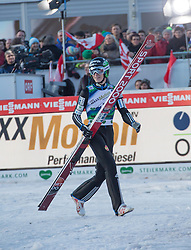 10.01.2015, Kulm, Bad Mitterndorf, AUT, FIS Ski Flug Weltcup, Bewerb, im Bild Jurij Tepes (SLO, 3. Platz) // reacts after his Competition Jump of the FIS Ski Flying World Cup at the Kulm, Bad Mitterndorf, Austria on 2015/01/10, EXPA Pictures © 2015, PhotoCredit: EXPA/ Dominik Angerer