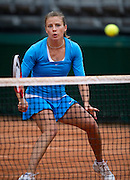 Alicja Rosolska of Poland competes at women's double game while Day Fifth during The French Open 2013 at Roland Garros Tennis Club in Paris, France.<br /> <br /> France, Paris, May 30, 2013<br /> <br /> Picture also available in RAW (NEF) or TIFF format on special request.<br /> <br /> For editorial use only. Any commercial or promotional use requires permission.<br /> <br /> Mandatory credit:<br /> Photo by &copy; Adam Nurkiewicz / Mediasport