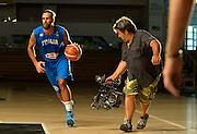 TRENTO 24 LUGLIO 2015<br /> NAZIONALE ITALIANA BASKET<br /> REGISTRAZIONE PROMO SKY TV<br /> NELLA FOTO LUIGI DATOME<br /> FOTO CIAMILLO