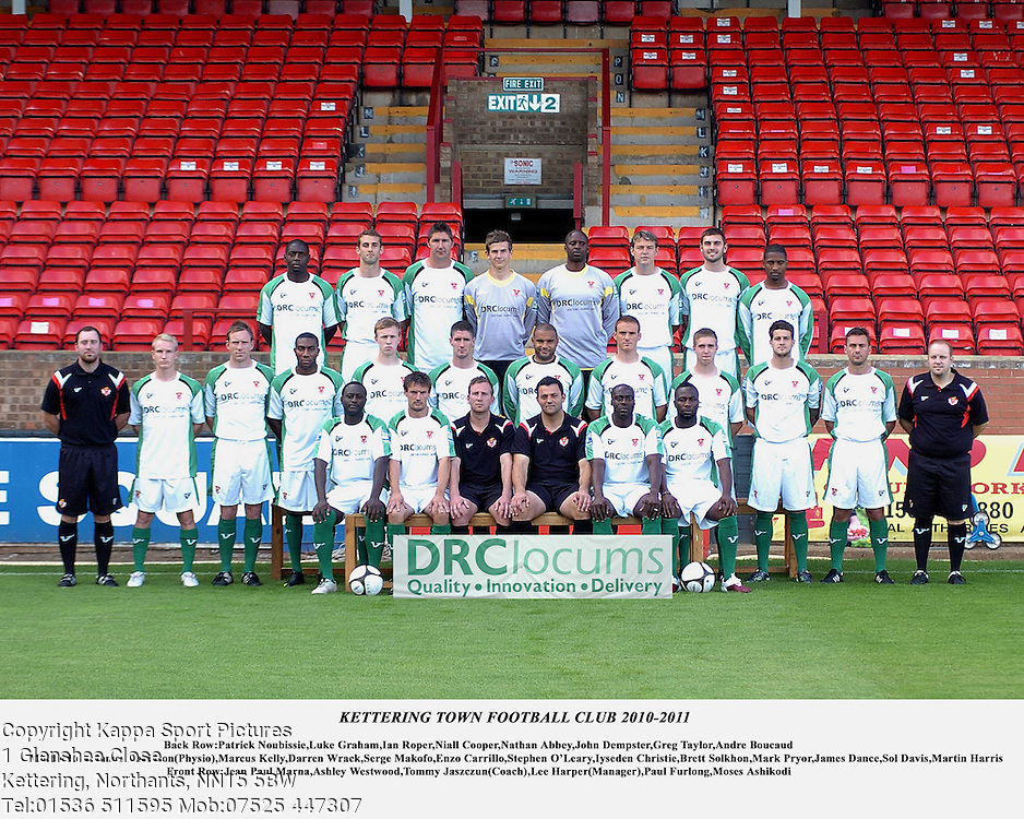 KTFC Team 2010-2011 Lee Harper Manager Kettering Town Football Club Players