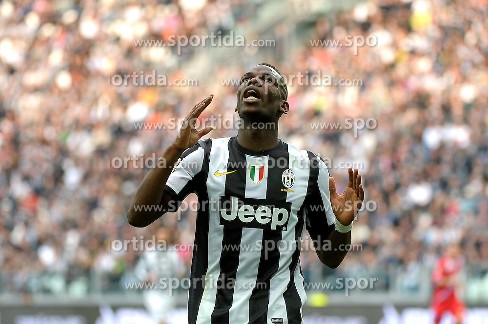 10.03.2013, Juventus Stadion, Turin, ITA, Serie A, Juventus Turin vs Catania Calcio, 28. Runde, im Bild Paul Pogba Juventus // during the Italian Serie A 28th round match between Juventus FC and Catania Calcio at the Juventus Stadium, Turin, Italy on 2013/03/10. EXPA Pictures © 2013, PhotoCredit: EXPA/ Insidefoto/ Federico Tardito..***** ATTENTION - for AUT, SLO, CRO, SRB, BIH and SWE only *****