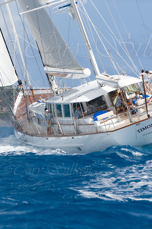 Timoneer racing at the Superyacht Cup Regatta.