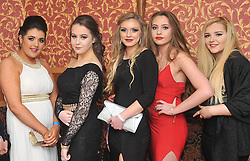 Pictured at the recent Tranistion Year Ball held at Hotel Westport were Chantelle Sheridan, Chambers Claudia Nigowska, Amy Gibson and Ashling Carroll.<br /> Pic Conor McKeown