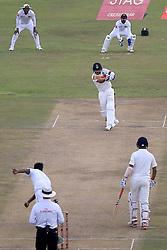 July 26, 2017 - Galle, Sri Lanka - Indian cricket captain Virat Kohli edges the ball to get out off the bowling of Sri Lanka's Nuwan Pradeep during the 1st Day's play in the 1st Test match between Sri Lanka and India at the Galle International cricket stadium, Galle, Sri Lanka on Wednesday 26 July 2017. (Credit Image: © Tharaka Basnayaka/NurPhoto via ZUMA Press)