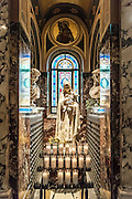 Blessed Mother votive shrine, Our Lady of Victory Basilica, Lackawanna, New York, USA.