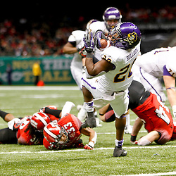December 22, 2012; New Orleans, LA, USA; East Carolina Pirates wide receiver Justin Hardy (2) scores a touchdown against the Louisiana-Lafayette Ragin Cajuns during the second half of the New Orleans Bowl at the Mercedes-Benz Superdome. UL-Lafayette defeated East Carolina 43-34. Mandatory Credit: Derick E. Hingle-USA TODAY Sports